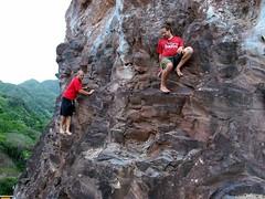 Barefoot hippies. (jsquid) Tags: rocks free maui climbing barefoot freeclimbing