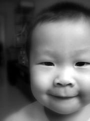 sunwukong (myyong) Tags: boy bw baby white black cute rascal xgf02 x0201