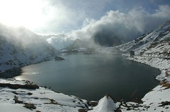 Great Saint Bernard Pass (Fispace) Tags: winter italy lake snow saint bernard clouds switzerland pass grand gettyimagessalq1
