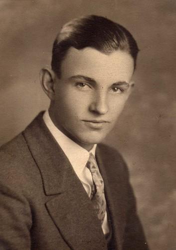 Portrait of a young man vintage