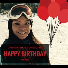 Dynamic Edge Consulting- Happy Birthday Jasmin! (dynamicedgeconsultinglb) Tags: hbd happybirthday birthdays officebirthdays carson losangeles snowboarder dynamicedgeconsulting