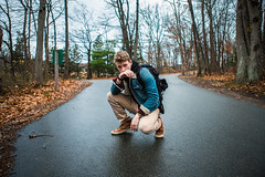 Middle of the Road (Evan's Life Through The Lens) Tags: camera sony a7rii lens glass canon 2470mm f28 autumn cold rain weather gloom gloomy clouds wet water orange blue vibrant color contrast beautiful friend early morning