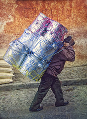Going To Market (Artypixall) Tags: guatemala chichicastenango man carrying bundle urbanscene street