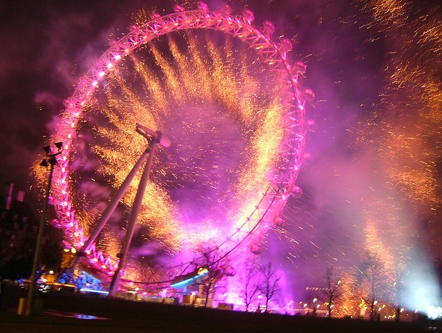 London Eye in colour