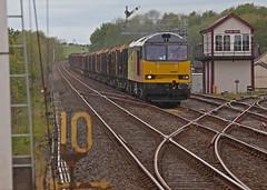 Water Logged (Richie B.) Tags: station box traction rail railway brush class signal 60 appleby colas tsbg procor 60087 6j37