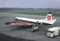 BEA Viscount G-APKF at Birmingham airport, date unknown (Proplinerman) Tags: airplane bea aircraft airliner turboprop vickers viscount propliner britisheuropeanairways elmdon