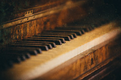 The Keys To Life (GerTakesPhotos) Tags: life county old music texture film abbey canon vintage keys photography major wooden rust keyboard notes antique mark iii victorian piano grand overlay musical 5d sheet mayo 28 duffy minor 70200 clef treble octave ger castlebar mk3 gothis kylemoore