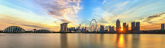 Star of the show (Mabmy) Tags: city longexposure sunset panorama flower architecture clouds garden singapore cityscape lotus district olympus cbd 24mm done financial hdr starburst mbs em1 manualblending
