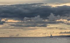 Into the Sunset (Rick Derevan) Tags: sunset outside hawaii boat maui catamaran years molokai 2015 maui2015