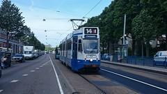 Vlug op de Vlughtlaan (Peter ( phonepics only) Eijkman) Tags: city holland netherlands amsterdam transport nederland tram rail rails trams noordholland gvb tramtracks nederlandse
