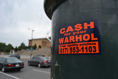 Cash for your Warhol (MaxTheMightyy) Tags: streetart art philadelphia graffiti sticker stickerart stickers postalsticker vandal vandalism philly slap usps 228 vandals graffitiart slaps postallabel cashforyourwarhol cfyw