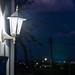 Lamp outside a house