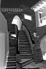 PRIVADO revers, s/w (menzelhd) Tags: blackwhite treppe digiart sw menorca spanien privado aufgang revers binibequer