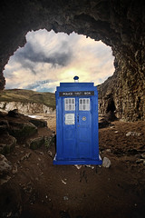 Tardis Cave (Tour of the Tardis) Tags: england head who yorkshire doctor doctorwho scifi cave tardis flamborough