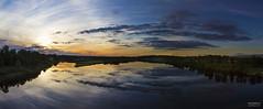 Kitinen-1197-1206 panorama (>>Marko<<) Tags: sunset panorama nature suomi finland river landscape lapland maisema lappi luonto auringonlasku joki kitinen kairala