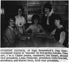 Hammarskjold Jr. High School Student Council, 1964 (Ereiss1) Tags: vintage eastbrunswick nj