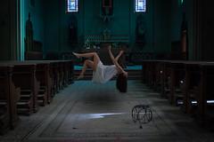 Levitation (camilla_morsia) Tags: dark darkportraits selfportrait church abandoned