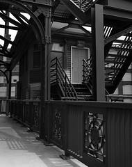 Cermak Road Bridge - Chicago - Delta 100  - TIFF - 002 (Andre's Street Photography) Tags: chicago cermak antoncermak cermakroadbridge pilsen southwestside bridge tender house architecture bridgearchitecture fine art fineartphotography planetearch enjoyillinois bw bwphotography blackandwhite fuji ga645 fujiga645 ilford delta100 film filmphotography mediumformat 6x45 zwartwit noiretblanc blancoynegro chicagoist chicagoreader chicagojournal chicagomagazine chicagotribune urban city photobyandrevanvegten