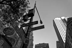 Follow the signs (Leguman vs the Blender) Tags: midtown manhattan nyc newyork usa bw