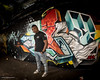 Ali the DJ in Leake Street (jerry_lake) Tags: 14jan2017 ali city d750 dj leakestreet london nikon16mmfisheyef28 nikoncls nikonsb900 waterloostation offcameraflash tunnel