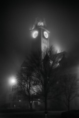 Foggy Night (petexdesign) Tags: fog night dslr nikon foggy bw blackandwhite dark gothic monochrome