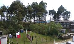 P1110009 Nice view of tree-lined meadow .... from the balcony outside my Fishtail-GH Room in Pothana (ks_bluechip) Tags: nepal trek dec2016 annapurna abc mbc landruk tolga pitamdeorali pothana