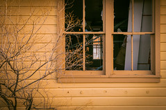 fading light and a broken window (Sam Scholes) Tags: kingcoal ruraldecay window coal industrial shatteredglass urbandecay urbanexploration coalmine mining mine brokenwindow urbex hiawatha abandoned industrialdecay utah