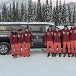 BC Ski Team athletes with Haywood truck