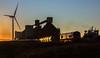 Sun Up! (Kingmoor Klickr) Tags: alumina pca tanker wagon northblyth blyth railfreight 66739 gbrailfreight