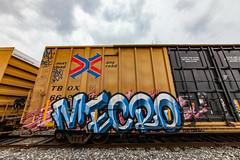 (o texano) Tags: houston texas graffiti trains freights bench benching mecro cdc