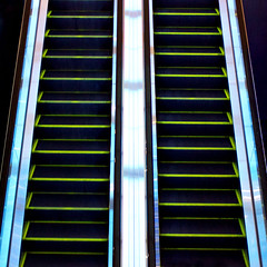 """Escalator"" the way up looks as glorious as the way down (Maryam Arif) Tags: escalator composition perspective geometry gradient architecture light space thought time observation maryamarif photography levels fineart visualart artistic atmosphere angle structure abstract art shadow darkness graphic lines observer insight imagination reflection"