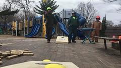 Video - Aroborists play cornhole (Montgomery Parks, MNCPPC) Tags: treeclimbing woodsidepark january2017 2017