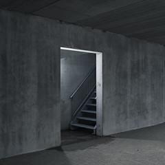 Brielle, Amer 1/2 (Danny Holleman) Tags: brielle amer fujifilm garage bastionhotel parking concrete grey square fuji