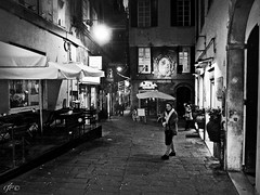 """CityNightLife"" (giannipaoloziliani) Tags: blackandwhite monochrome biancoenero monocromatico street streetphotography streetphoto streetblackandwhite urban urbanstreet urbanight streetnight urbanblackandwhite city città centro centre downtown persone people bar walk capture streetcaptures genova genoa genoacity italia italy expressions espressioni walls muri edifici architettura architecture buildings walking notte night nightlife nightlive citynightlife citynight nikon nikoncamera nikonphotography nikonofficials flickr lights lamps shadows dark hardstyle darkness obscure strong strange black buio scuro oscuro forte raw tables windows viuzza littleplace piazzetta strada perspective prospettiva prospettica local statue"