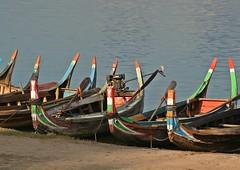 Mandalay - Amarapura - Lake Taungthaman - Traditional Boats (zorro1945) Tags: mandalay amarapura laketaungthaman myanmar burma asia asie boats traditionalboats colours flickrunitedaward
