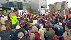 20170129_130358 (2) (Wolfram Burner) Tags: bantrump weareallimmigrants we all immingrants protest trump coexist eugene oregon federal courthouse march action love uoregon uofo