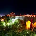 1) Stadtmauer am Abend