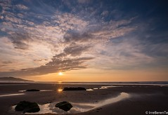 Two suns that speak without words (IrreBerenT) Tags: sunset sky sun beach nature clouds landscape cantabria sanvicentedelabarquera twosuns sounrise irreberente
