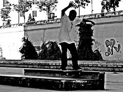 Training (casanova9663) Tags: park bw skate mlaga
