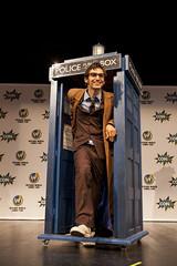 Doctor Who & the TARDIS (Wizard World Sacramento 2015) (JoshuaColeman) Tags: world time who wizard space doctor sacramento tardis relative dimensions 2015