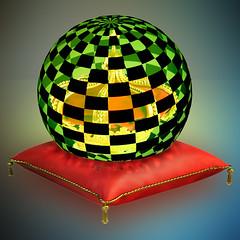The dome green and black (jaci XIII) Tags: red pad vermelho dome crown coroa royalty almofada realeza redoma