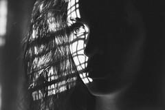 Tess BW (SkylerBrown) Tags: portrait blackandwhite woman girl face dark sadness blackwhite eyes noir shadows sad darkness