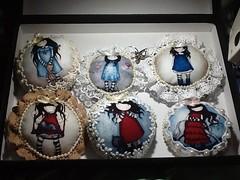 Chaveirinhos (ceciliamezzomo) Tags: key doll handmade lace ring cotton pearl boneca patchwork chaveiro renda algodao chaveirinho perola gorjuss