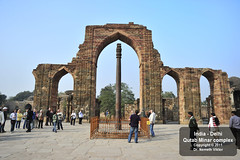 _D3T2178 Delhi - Qutab Minar komplexum (Nmeth Viktor) Tags: india viktor delhi complex minar qutab nmeth vilgutaz drnvq