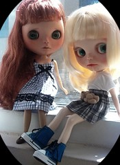 """Blythe-a-Day #12 Window or Door: Donna & Little Bea: """"Turn Off Those Christmas Movies, Mom!"""""""