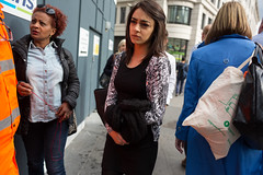 (ziemowit.maj) Tags: london londonbridge angle streetphotography bank bitinglip candidphotography straightphotography canon5dmkiii beutifulgirllookingdepressedwithorangereflectedlight