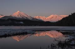 Auke Lake Pink Reflection small4042 (Gillfoto) Tags: juneau alaska aukelake snowcappedpeaks snow peaks frozen winter pink d750