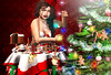 Lights power (meriluu17) Tags: light lights christmas garland tree christmastree indoor portrait magic fantasy cake party ginger red green people