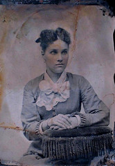 Unknown Woman (~ Lone Wadi Archives ~) Tags: tintype portrait lostphoto foundphoto mysterious unknown retro 1870s 19thcentury victorian