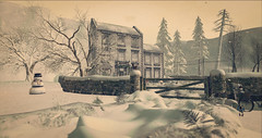 Home is where... (Wendy Lipovsek) Tags: second life secondlife sl winter cold snow winterscene dawn chrsitmas